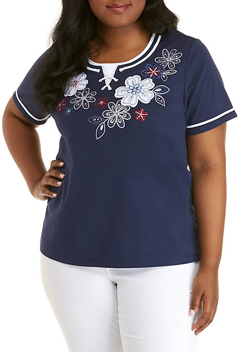 Alfred Dunner Plus Size In The Navy Floral