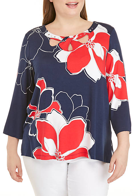 Alfred Dunner Plus Size In The Navy Exploded