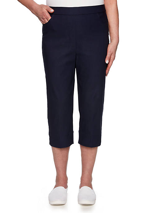 Alfred Dunner Petite In The Navy Allure Capris