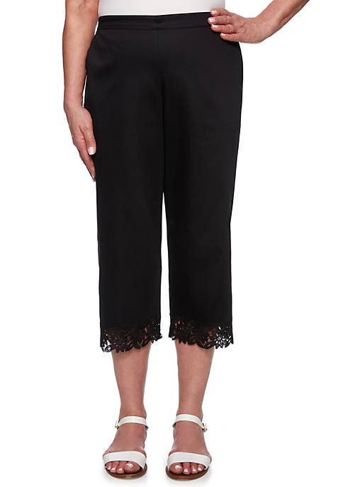 Alfred Dunner Cayman Islands Border Lace Capri Pants