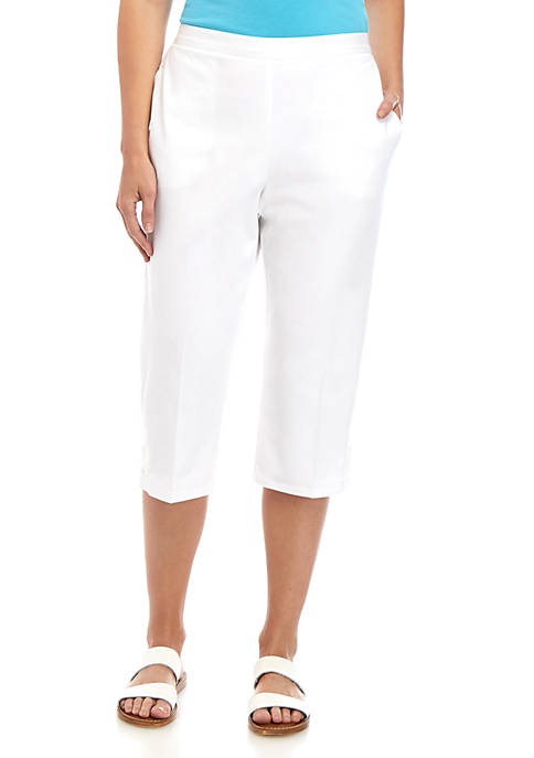 Alfred Dunner Twill Capris