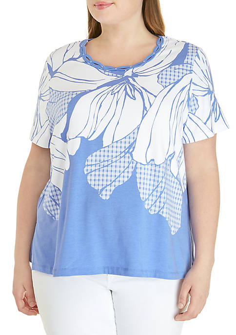 Alfred Dunner Plus Size The Summer Wind Exploded