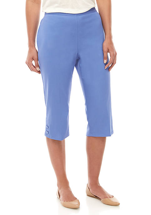 Alfred Dunner Petite Twill Capris