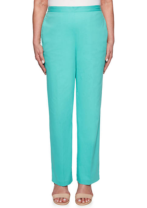Alfred Dunner Petite Coastal Drive Proportioned Medium Pants
