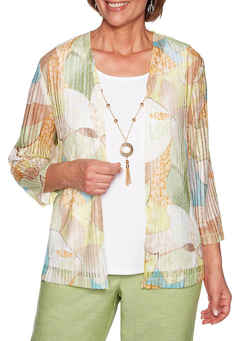 Womens Stained Glass Knit Top