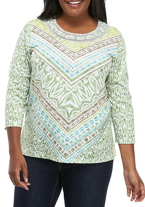 Alfred Dunner Plus Size Santa Fe Chevon Knit