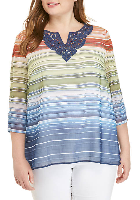 Alfred Dunner Plus Size Lake Tahoe Biadere with