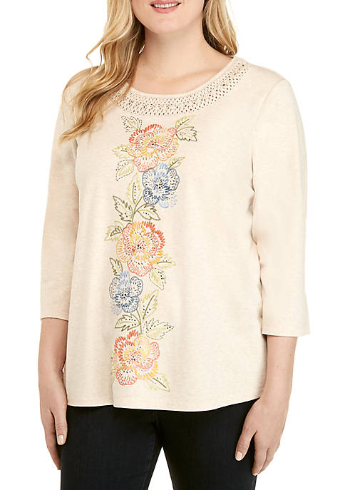 Alfred Dunner Plus Size Lake Tahoe Floral Center
