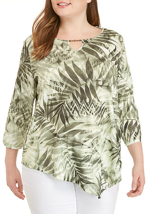 Alfred Dunner Plus Size Lake Tahoe Monotone Tropical