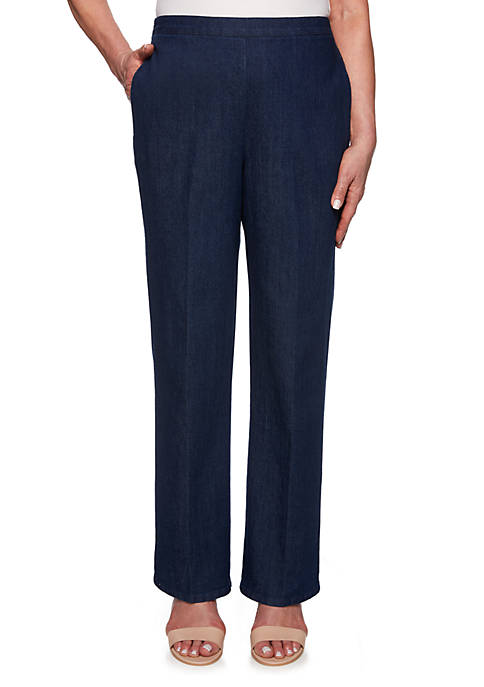 Alfred Dunner Petite Lake Tahoe Medium Length Pants