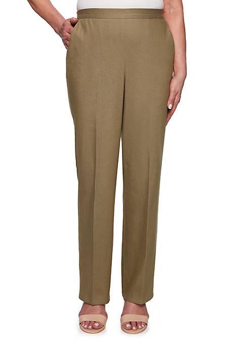 Alfred Dunner Petite Lake Tahoe Proportion Pants- Short