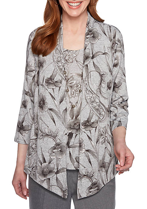 Alfred Dunner Boardroom Floral 2Fer Tunic