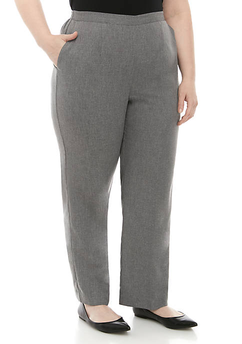 Alfred Dunner Plus Size Boardroom Proportioned Medium Pants