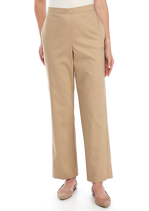 Alfred Dunner Straight Seam Pull On Pants- Short