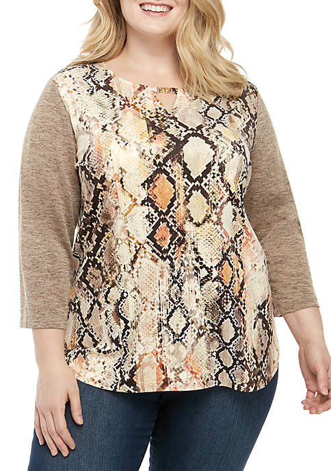 Alfred Dunner Plus Size Street Smart Python Suede