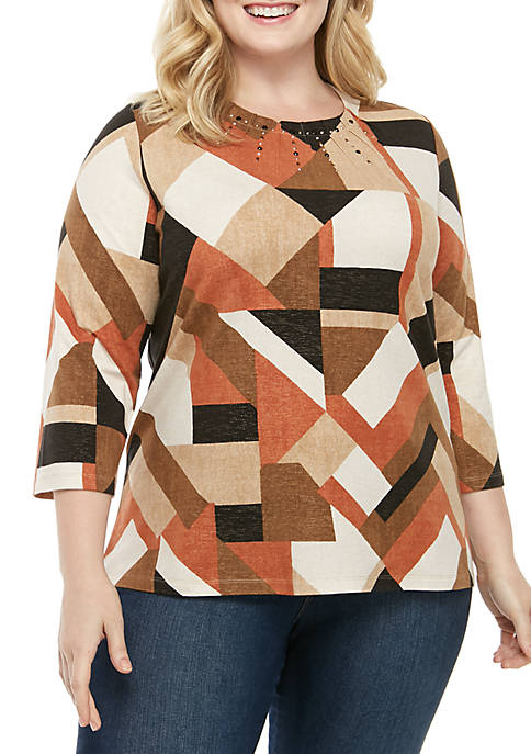 Alfred Dunner Plus Size Street Smart Geometric Color