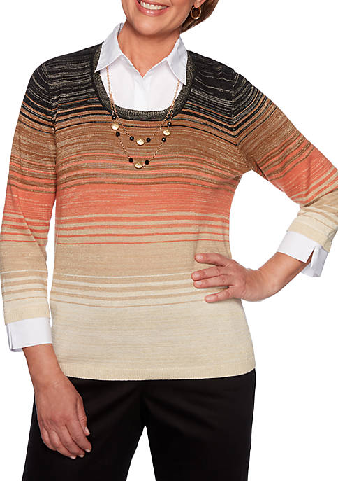 Alfred Dunner Petite Street Smart Ombre 2 For