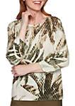 Cedar Canyon Palm Leaf Pullover