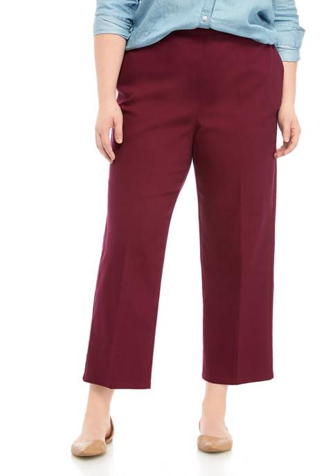 Plus Size Autum Harvest Mulberry Proportioned Short Denim Jeans
