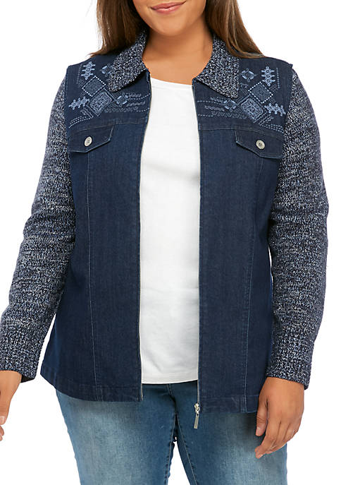 Alfred Dunner Plus Size Autumn Harvest Jacket with