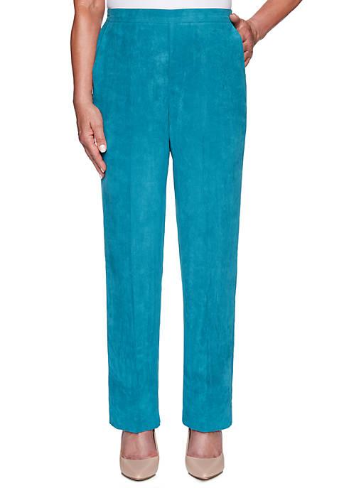 Petite Walnut Grove Short Faux Suede Pants