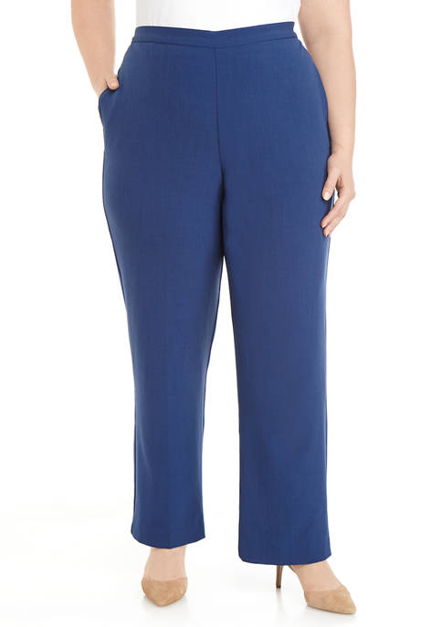 Alfred Dunner Plus Size Sapphire Skies Crepe Pants