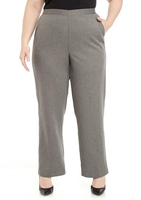 Plus Size Sapphire Skies Short Pinstripe Pants