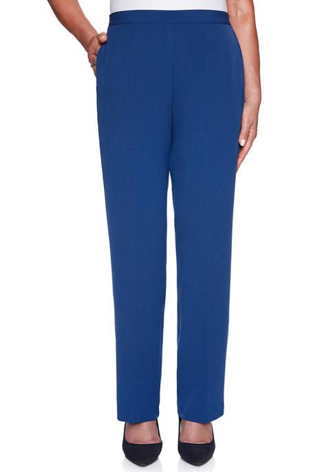 Alfred Dunner Petite Sapphire Skies Crepe Short Pants