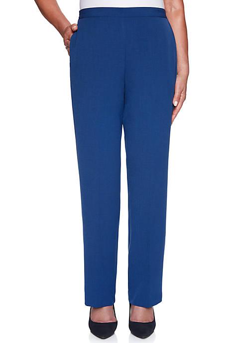 Alfred Dunner Petite Sapphire Skies Crepe Medium Pants