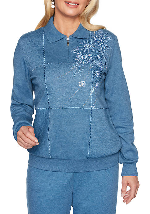 Alfred Dunner All About Ease Embroidered Box Half
