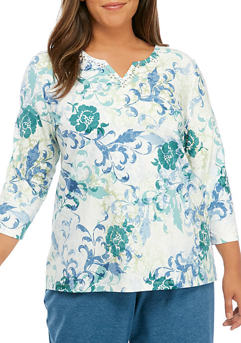 Alfred Dunner Plus Size All About Ease Scroll