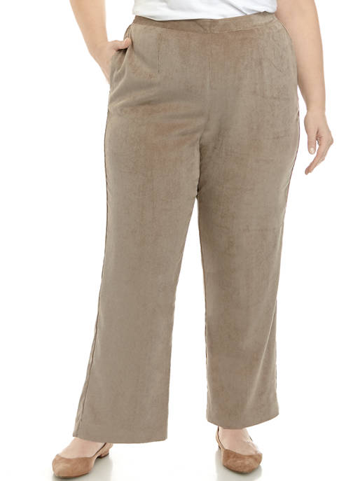 Alfred Dunner Plus Size Proportioned Short Corduroy Pants