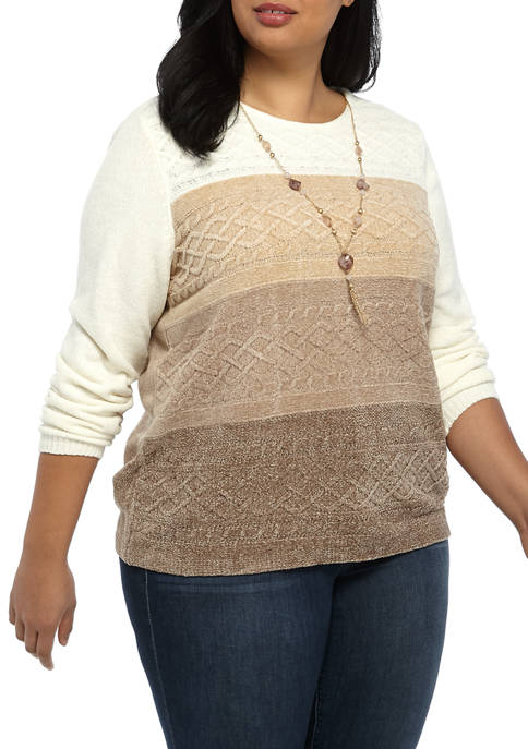 Alfred Dunner Plus Size Fit and Flare Cable