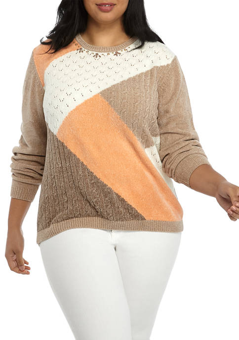 Alfred Dunner Plus Size First Frost Color Block