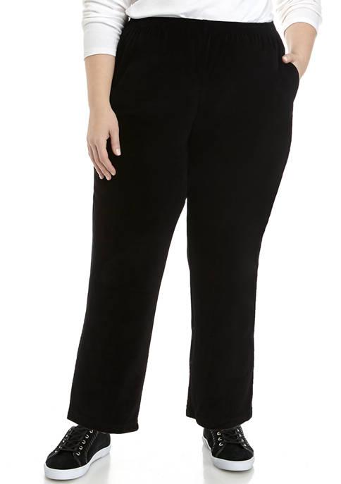 Plus Size Velour Short Pants