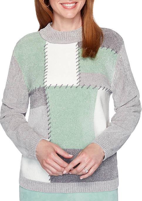 Womens Lake Geneva Color Block Sweater
