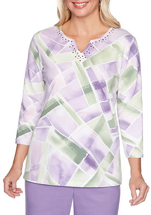 Loire Valley Abstract Geometric Love Top