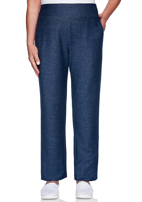 Womens Road Trip Medium Knit Denim Pants