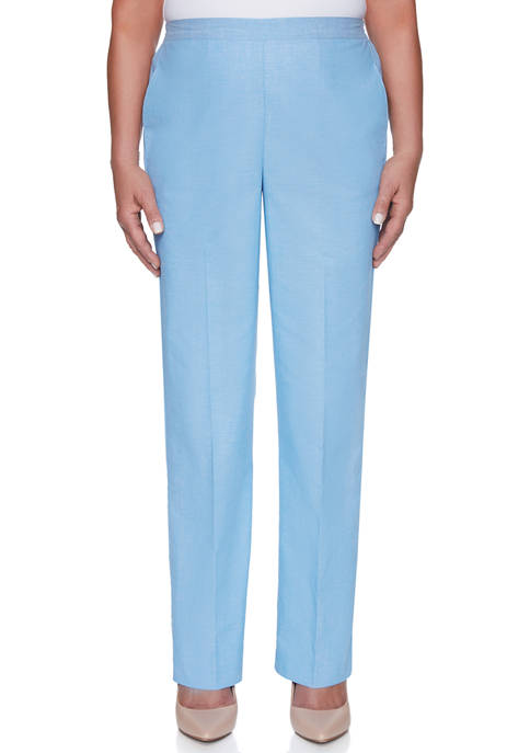 Alfred Dunner Womens Garden Party Proportioned Medium Pants