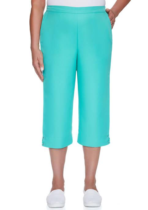 Alfred Dunner Womens Miami Beach Capri Pants