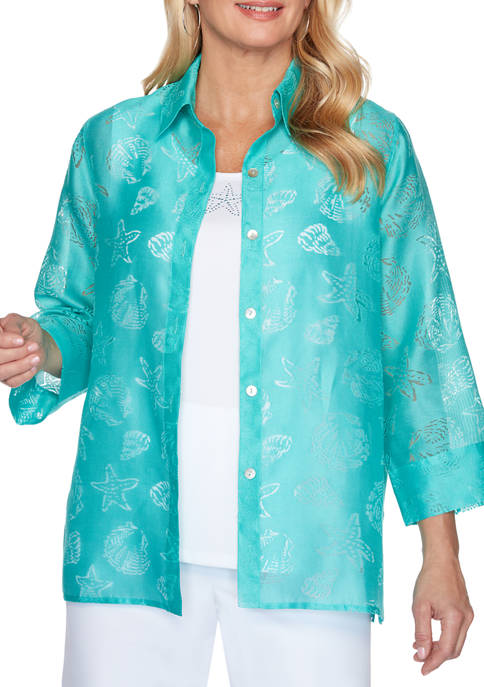 Alfred Dunner Womens Miami Beach Seashell 2 for