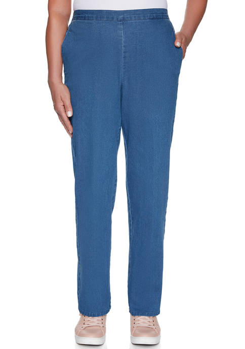 Alfred Dunner Womens Proportioned Medium Pants