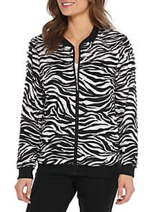 Upper East Side Zebra Ruffle Zebra