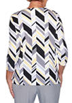 Petite Pearls of Wisdom Chevron Textured Knit Top
