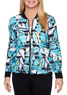 Play Date Tropical Print Jacket