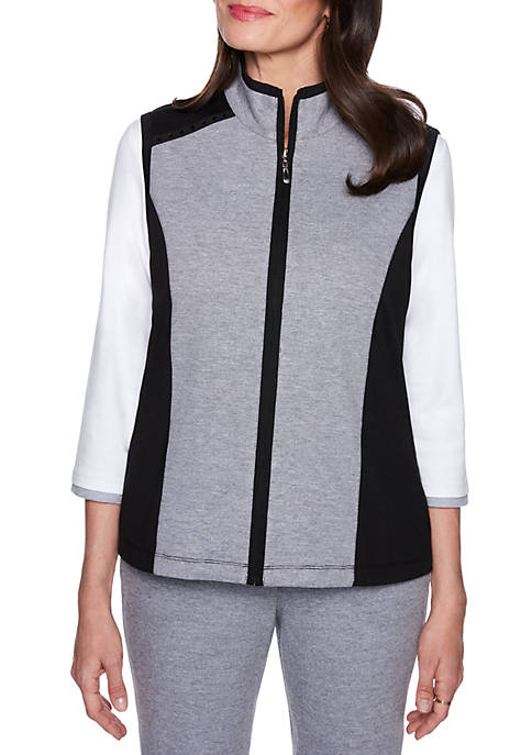 Alfred Dunner Petite Size Spliced Vest