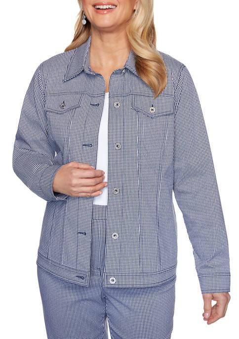 Womens Easy Street Gingham Jacket