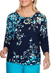 Petite Easy Street Floral Sweater