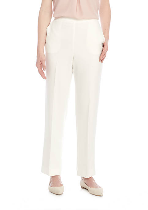 Alfred Dunner Roman Holiday Medium Pull-On Trousers