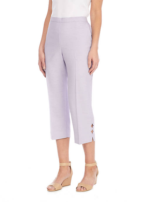 Alfred Dunner Roman Holiday Pull-On Diamond Cut Capri